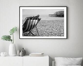 Brighton Art, Brighton beach print, Brighton West Pier, Brighton Wall Art, Brighton Poster, Brighton Pier Print, Brighton beach Art, England