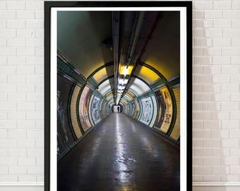 London Underground, street photography, London print, London tube, London wall art, London photography, London poster, Home Decor, art print