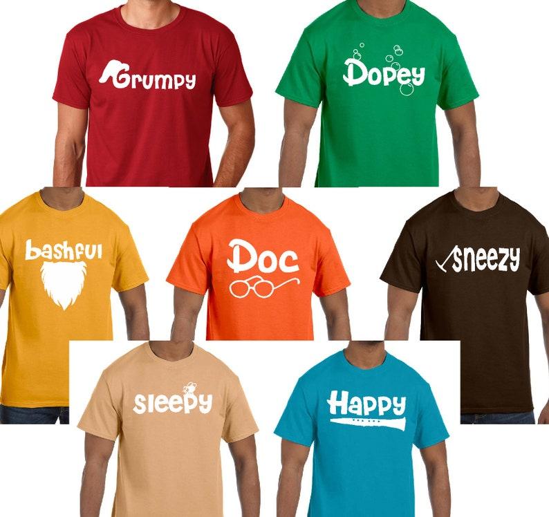 bc5f68eea Seven dwarfs costumes seven dwarfs t shirt seven dwarfs | Etsy