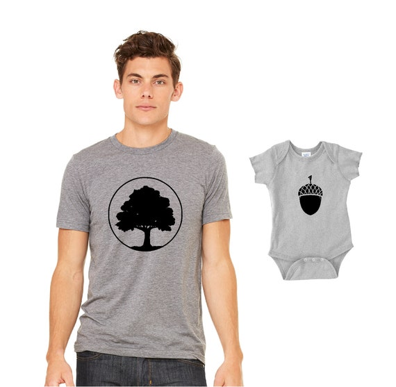 Matching Dad And Baby Christmas Gifts Oak Acorn Babys 1st Etsy