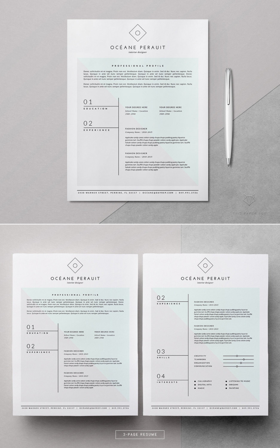 resume template   4pk resume template for ms word  u0026 iwork