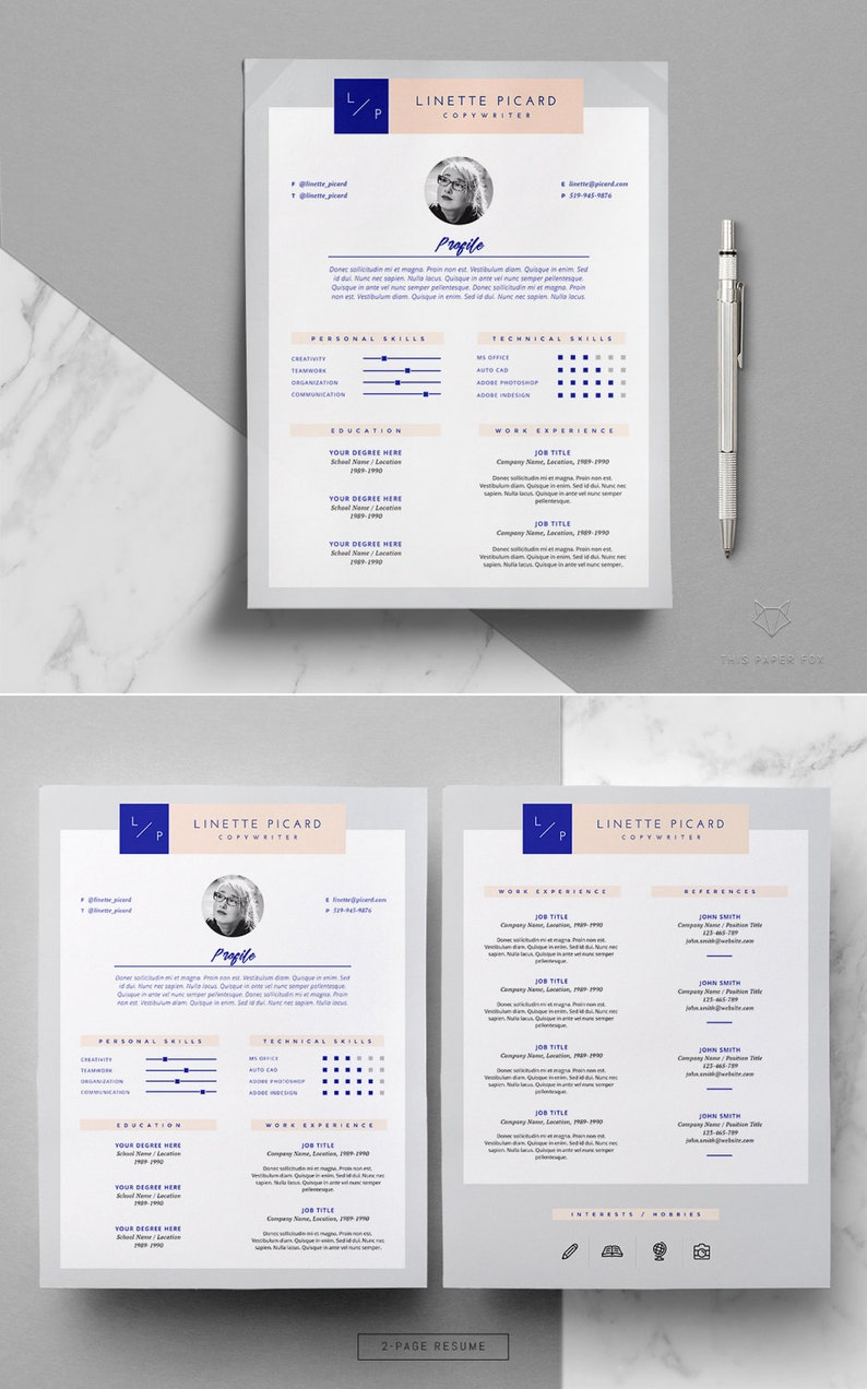 Modern Resume Template Cover Letter MS Word And Pages 3