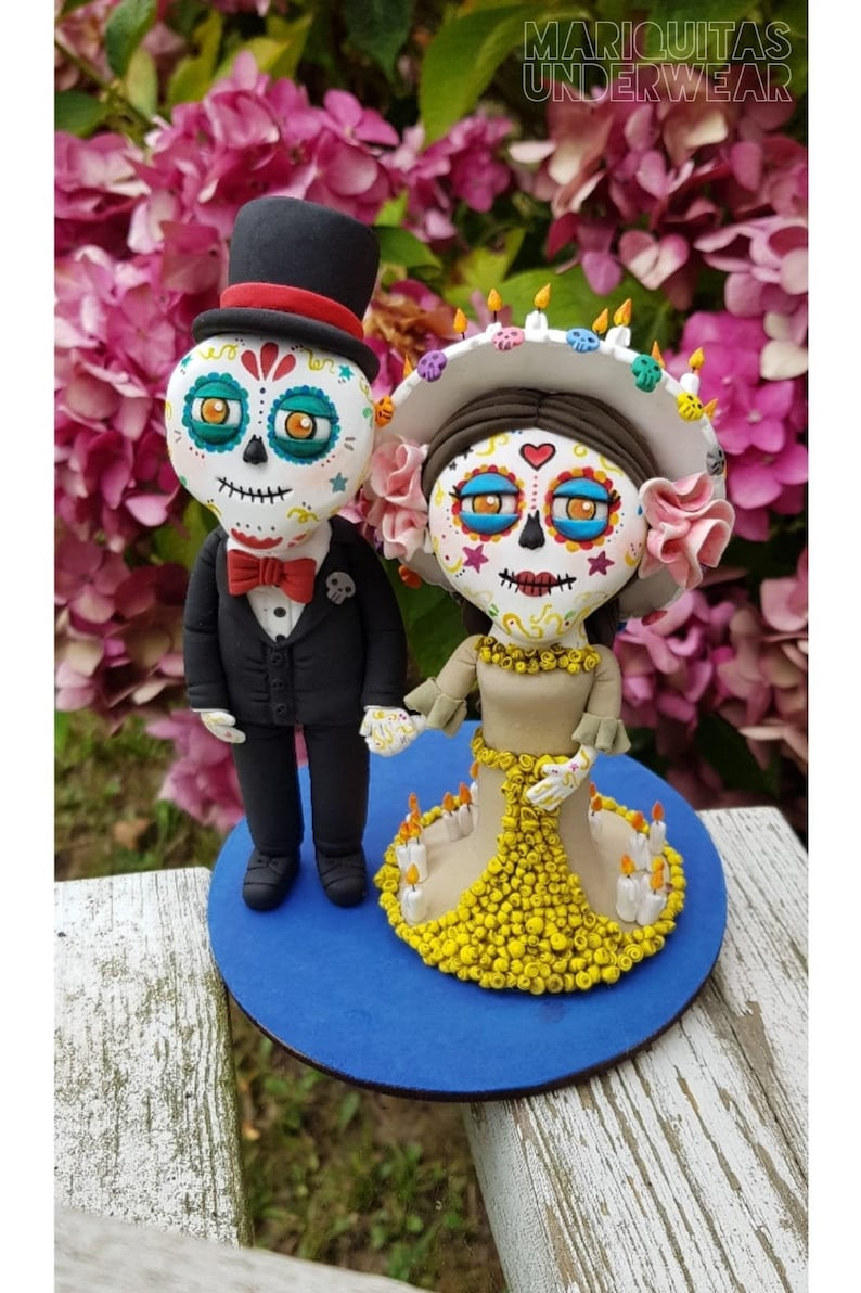 Katrina Day of the deads Mexican sugar skull Caketopper image 4