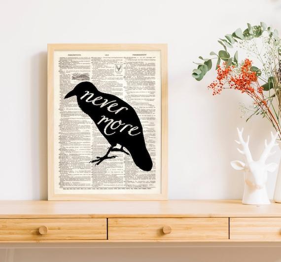 ae4d502b043a6 Dictionary Art Print Nevermore Raven Halloween Crow Edgar