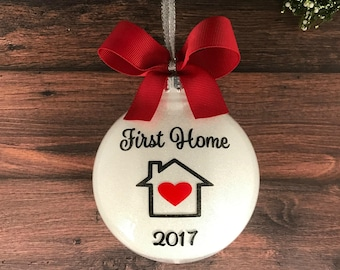 Our First Home Ornament, Housewarming Gift First Home, Real Estate Closing Gift For Buyers First Home Christmas Ornament Our First Home Gift