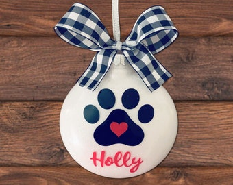 Dog Ornament Personalized Dog Gifts For Owners, New Puppy Gift For Dog Lover, Dog Christmas Ornament, Puppy Ornament, Dog Mom Gift, New Dog