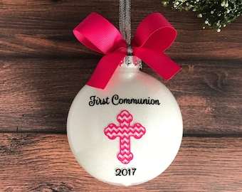 Personalized First Communion Gift For Girl, Communion Ornament, 1st Holy Communion, First Holy Communion, 1st Communion,  Christmas Ornament