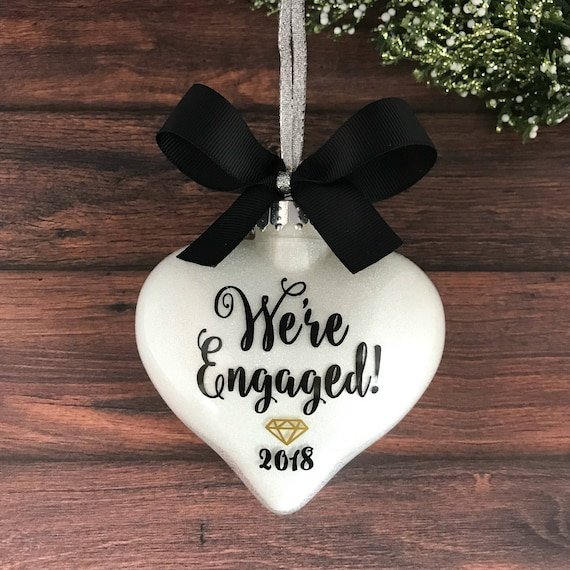 image 0 - Personalized Engagement Ornament For Couple Engagement Gifts Etsy
