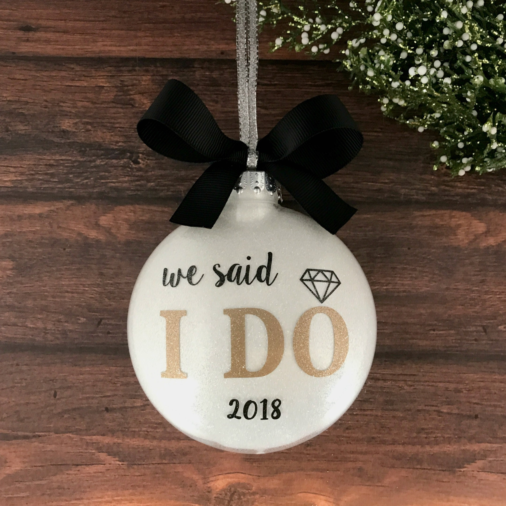 Our First Christmas Ornament Married Just Married Ornament | Etsy