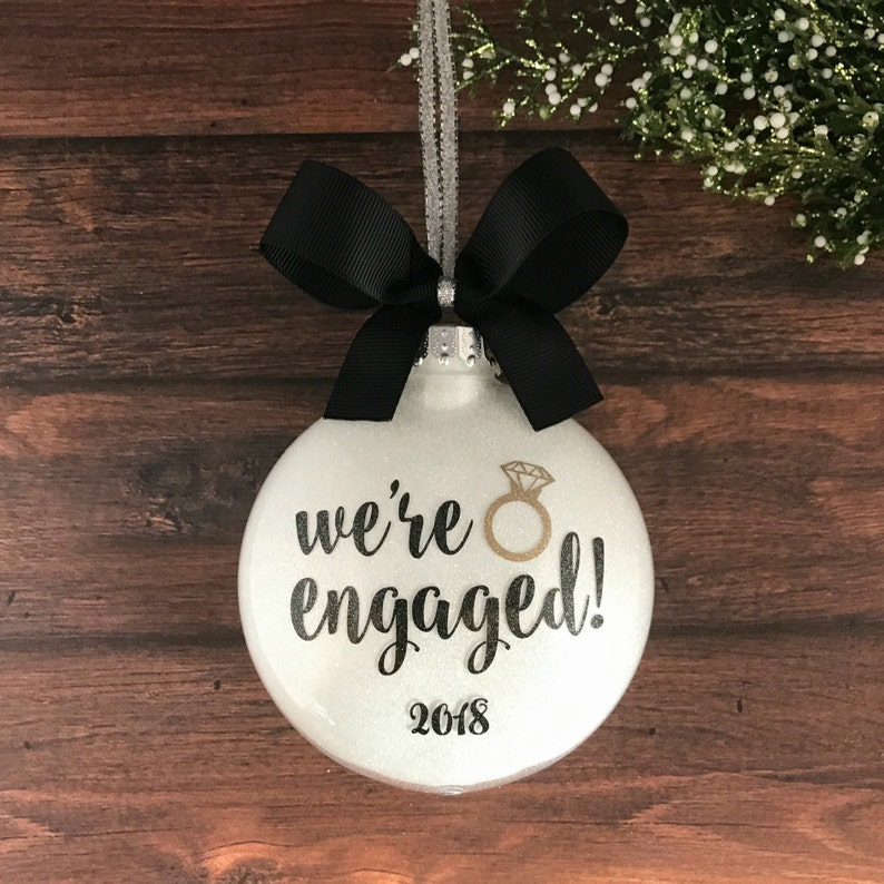 Engagement Ornament Engagement Gift Engaged Ornament image 1