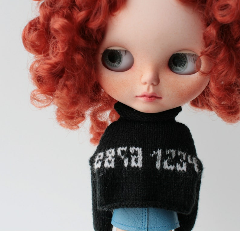 12inch Doll Clothing Red Sweatshirt Long Sleeve for Blythe Doll Accessories