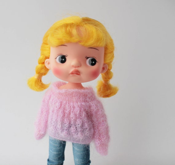 Holala doll pink mohair sweater