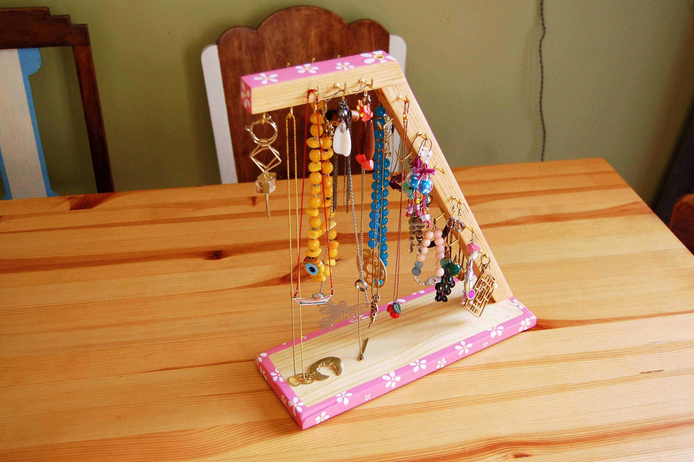 Platform_unique, fabriqués à à à la main, stand de bijoux de table en bois peint à la main, organisateur de bijoux, décoration, cadeau d'amant de bijoux, porte bijoux 2f92dc