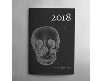 2018 Astrological Monthly Planner | Monthly Datebook Planner | Month-at-a-glance | Monthly Agenda | Month on Two Pages | Gifts under 30