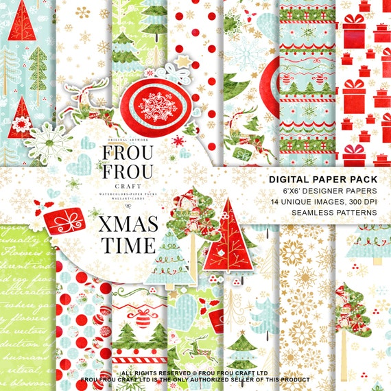 ec551cd3e christmas plaid scrapbook paper 12. digital scrapbooking papers ...