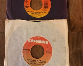 Small Collection of Paul McCartney 45 Records