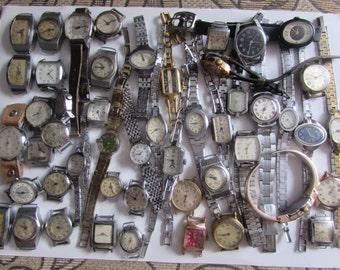 Women's watches 50  pcs USSR movements  art cufflinks altered art Steampunk Supplies