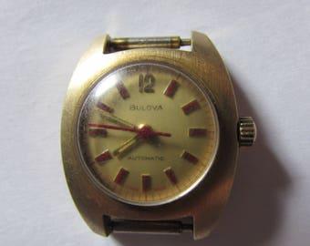 Rare Vintage Watch BULOVA Swiss  Automatic  Working gold plated mechanism
