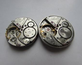 Rare 1 pcs Mechanisms ВОЛНА  28 mm round Vintage Soviet Watch Parts  MOVEMENT STEAMPUNK Arts  Parts