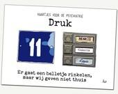small test Wenskaart: Dru...