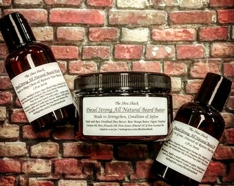 Diesel Strong All Natural Beard Care Set! Made using All Natural & Organic Ingredients and Vegan Friendly!
