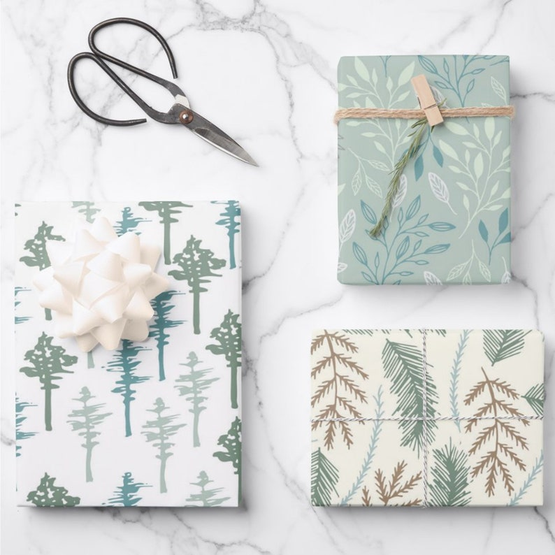 classic and pretty paper spring luxury gift wrap sheets mothers day wrapping Design 2 Snowdrop wrapping paper botanical wrapping paper
