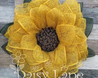 Best Seller- Sunflower Wreath-Burlap Sunflower Wreath-Wreaths for front door-Summer Wreaths for front door-Summer Wreath-Fall Wreath-Wreaths