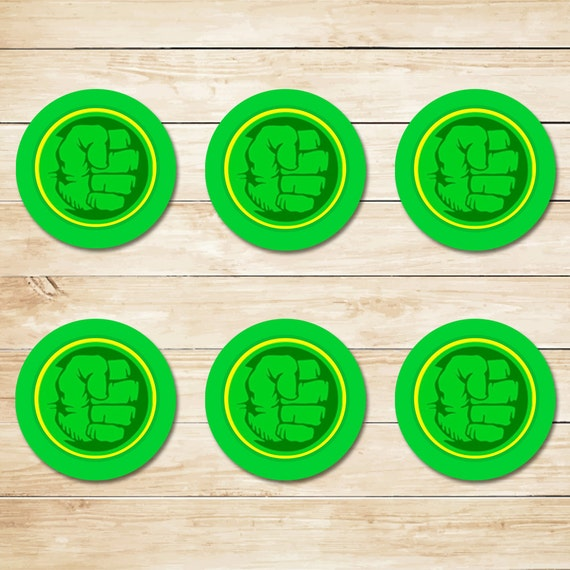 Incredible Hulk Sticker Hulk Smash Hulk Cupcake Toppers Etsy