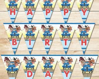 The Little Blue Truck Birthday Banner / Little Blue Truck Banner / Little Blue Truck Birthday Party / Little Blue Truck Party Favors