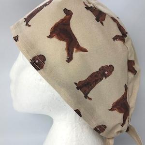 Irish Wolfhound Dog Print Scrub Cap