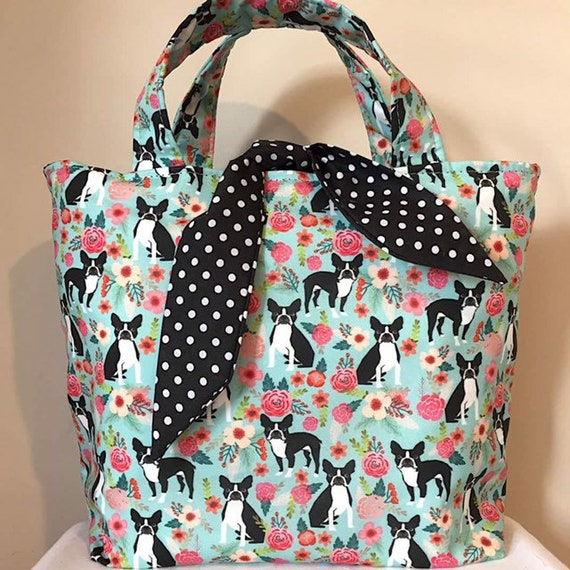 Boston Terrier Dog Print Bag