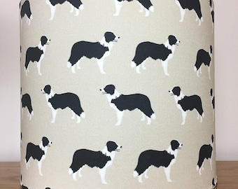 Border collie dog print Lampshade
