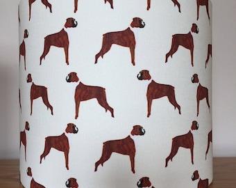 Boxer dog print Lampshade