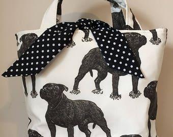 Staffordshire Bull Terrier Dog Print Handbag