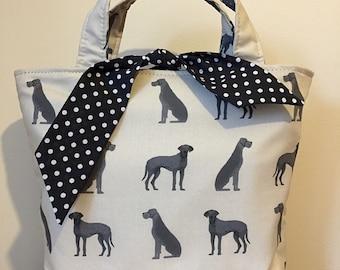 Great Dane (Blue) dog print handbag
