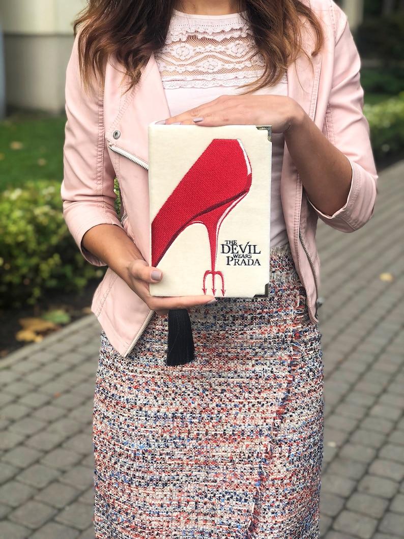 27b82836d8aa Book clutch Devil wears Prada customized purse | Etsy