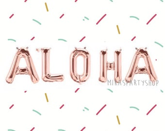 a667850f12b3 Rose Gold Aloha Balloon