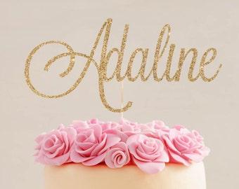 Name Cake Topper  |  Personalized Name Cake Topper  |  Birthday Cake Topper  |  Customized Name Cake Topper  | Cake Topper