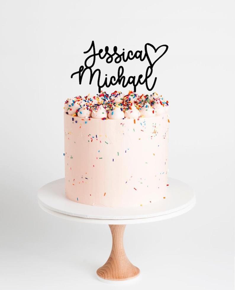 Custom Wedding Cake Topper L Rose Gold Wedding Cake Topper L Personalized Wedding Cake Topper L Name Wedding Cake Topper