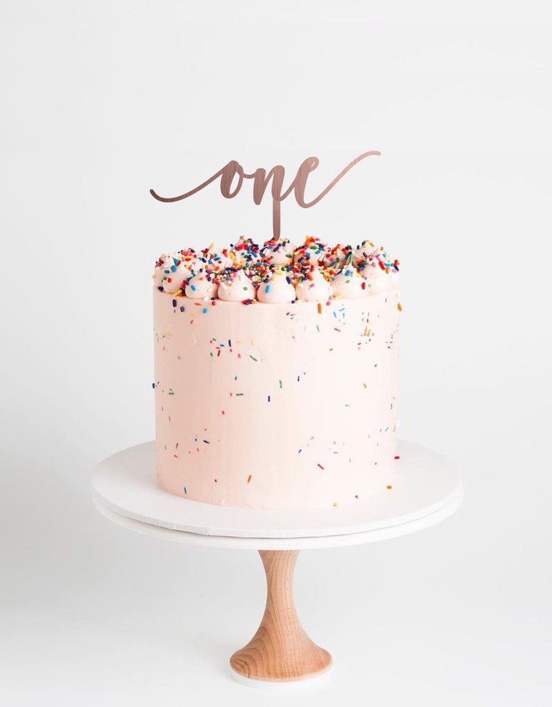 One Cake Topper First Birthday