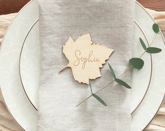 Thanksgiving place cards   Wedding Place cards    Leaves place cards    Thanksgiving table settings   Thanksgiving decor   Fall table decor
