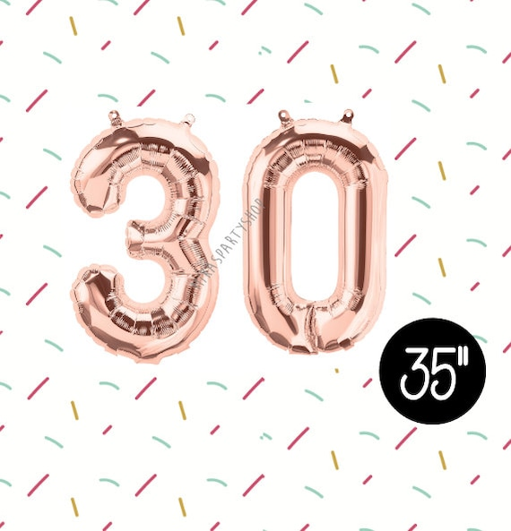 35 Rose Gold 30 Balloons Thirtieth Birthday 30th