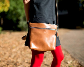 Women's Leather Bag, Leather Crossbody Bag, Everyday Shoulder Bag for women