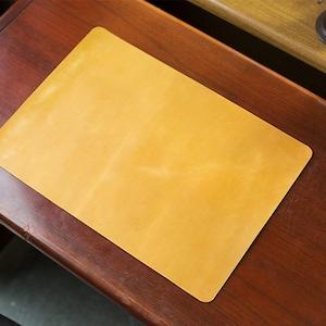 Horween Leder Tisch matte von natürlicher Farbe
