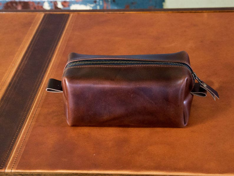 f6e20b9a08 Leather Dopp Kit Men s Brown Leather Travel Kit Toiletry