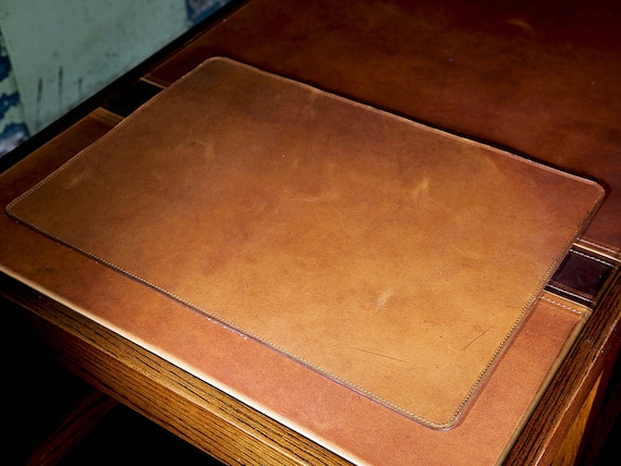 Horween Leder Tisch matte von natürlicher Farbe, Schützentisch Pad 13
