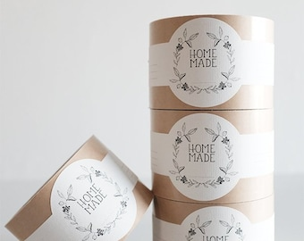 Homemade Labels - Packaging -DIY - Holiday Gifts - For the Maker - Soap Labels - Candle Labels - Canning Stickers - ROLL of 50