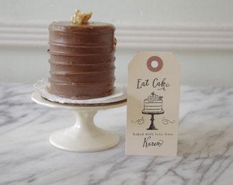 Cake Rubber Stamp - Cake Tag - Baking Label - Custom - Cooking - Birthday - Homemade - Recipe - Personalized - Gift Basket - DIY - Gift Box
