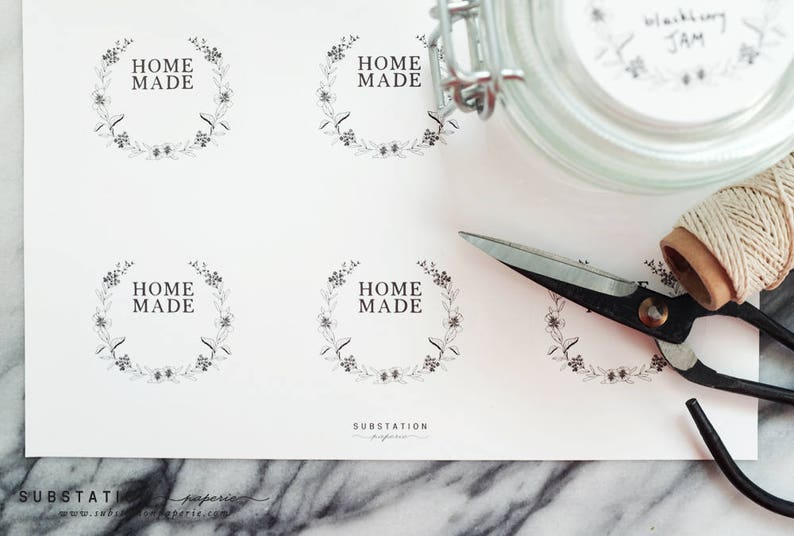 Homemade Stickers Jam Labels Canning Stickers Preserves Canning Labels Sticker Labels Handmade Labels