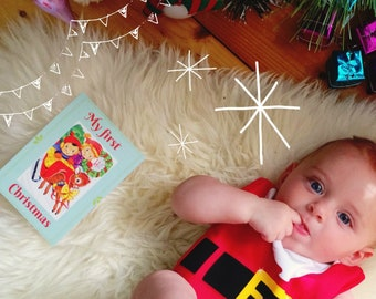 My First Christmas - Baby Milestone Card